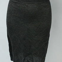 Lanvin River 2010 Black Wool Knee Length Skirt Sz M Photo