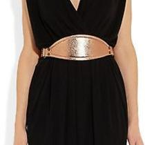 Lanvin Rose Gold Textured Leather and Brass Belt M Bnwt Rt  710 Photo
