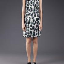 Lanvin Rp2750 Sleeveless Scarab Print Silk Blend Duchess Sheath Dress Fr36 Us4 Photo