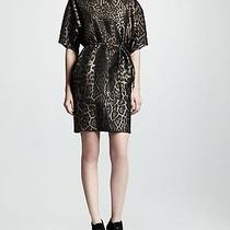 Lanvin Rp2750 Voluminous Belted Leopard-Print Jacquard Dress Fr36 Us4 Photo