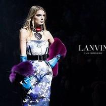 Lanvin Rtw 2012 10th Anniversary Hand Painted Strapless Dress Size 34 3795 Photo