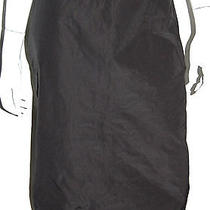 Lanvin Ruffled Back Design Black Pencil Skirt 40 Photo