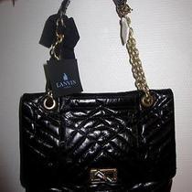 Lanvin Sac Happy in Black Calf Leather Photo