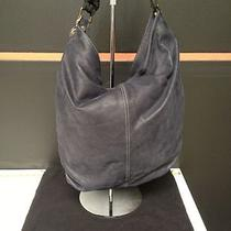 Lanvin Sac Padova Blue Soft Leather Tote Black Knotted Strap From Barneys Euc  Photo