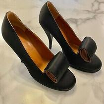 Lanvin Satin Black Pump With Front Swirl Detail Size 36.5 Photo