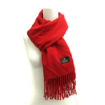 Lanvin Scarf Stall Cashmere Fringe Red Nt6 Ladies Series Shippingfree Collection Photo