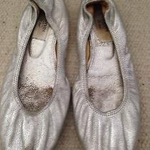 Lanvin Silver Ballet Flats Sz 7 Photo