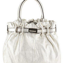 Lanvin Silver Metallic Kentucky Microfiber Hobo Handbag Evhb Photo