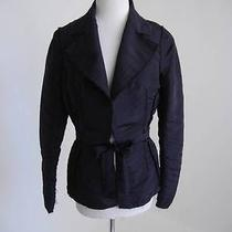 Lanvin Spring 2005 Black Frayed Taffeta Dressy Cocktail Jacket Fr38 Photo