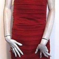 Lanvin Strapless Red Dress Photo