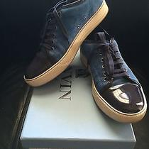 Lanvin Suede and Patent Calfskin Low Top Photo