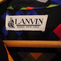Lanvin Vintage 60s Black Neon Block Dress Geometric Psychedelic Mini Hemmed  M Photo