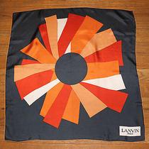 Lanvin Vintage Modernist Silk Scarf Photo