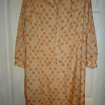 Lanvin Vintage Shirt Dress Polka Dot - Size 12  60's- Made in the Usa Photo