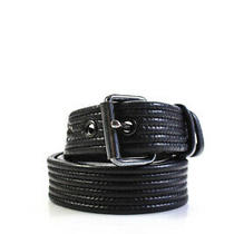Lanvin Womens Leather Silver Tone Belt Black Size Small Photo