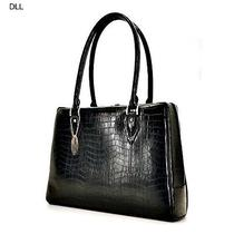 Laptop Bag for Women Business Briefcase Computer Handbag Messenger Croc Black  Photo