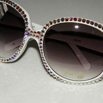 Large Aurora Borealis Austrian Crystal Sunglasses Sundress Mothers Day Gift    Photo