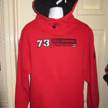Large Billabong Red Black Hoodie 73 Full Expedition All Element Support Unit  Photo