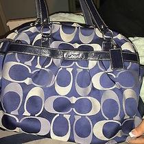 Large Blue Coach Diaper Bag Photo