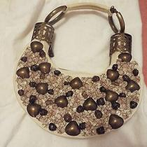 Large Chloe Quartz Crystal Beaded Bag Satchel Purse Clutch  Photo