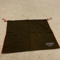Large Coach Purse Dust Cover Drawstring Bag Handbag Storage Pouch W 15x19 Brown Photo