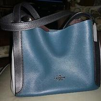 Large Coach Purse Gray Black and Blue Photo