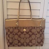 Large Coach Tote Gold Photo