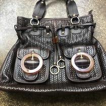 Large Elliot Lucca Genuine Leather Shoulder Hand Bag Tote Handbag Hobo Purse Photo
