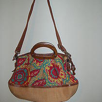 Large Fossil  Canvas and Wood Shoulder/hand Bag  Photo