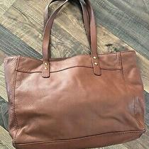Large Fossil Issue no.1954 Brown Leather Tote Purse Photo