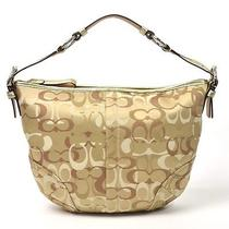 Large Gold Coach Signature Hobo Purse Photo