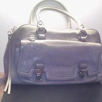 Large Gray Coach Satchel Handbag Purse Photo