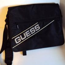 Large Guess Black Shoulder Bag Messenger Bag Laptop Computer Bag Flight Bag Photo