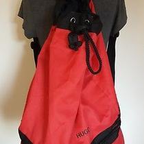 Large Hugo Boss Travel Duffle Bucket  Backpack Red Black  Bag Photo