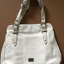 Large Ivory Cream Off White Leather Purse Handbag by the Sak Photo