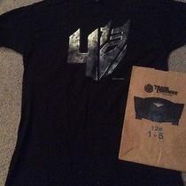 Large L Mens Transformers 4 Movie Age of Extinction T-Shirt  Burger King Bag Photo