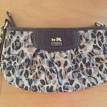Large Leopard Print Coach Wristlet Photo