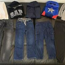 Large Lot of 9 Boys Gap Old Navy Dc Comics Jackets Jeans Jogger Pants Size 6 & 7 Photo