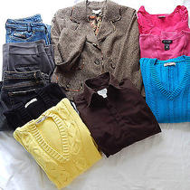 Large Lot Women's Clothes Pants Jacket Sweaters Jeans Name Brands Size 8 & 10 M Photo