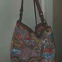 Large Nine West Sequin Pattern Hobo Pocketbook Unique and Rare Photo