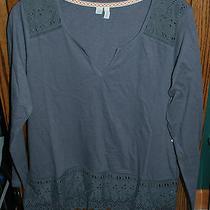 Large Nwt 45 Junior's Element Psychic Long Sleeve Slub Knit Top Photo