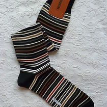 Large Nwt Missoni Multi Stripes Mens Suit Knee Socks Over the Calf Md in Italy L Photo