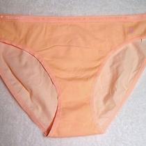 Large Nwt Victoria's Secret Peach Color Cotton Bikini Panty (Vs853) Photo