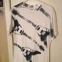 Large Old Navy Electric Guitar Print T-Shirt for Musician Music Lover Metal Photo