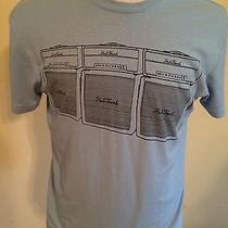 Large Paul Frank Electric Guitar Amplifier Rock Music 50/50 Blue Cotton T-Shirt Photo