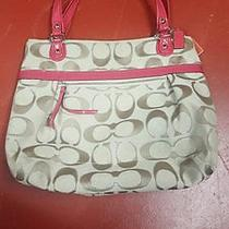 Large Pink Accented Coach Purse Photo