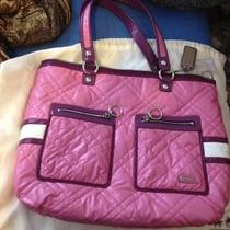 Large Pink Quilted Coach Purse Photo