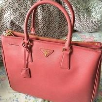 Large Pretty Leather Luxury Pink Prada Tote  Photo