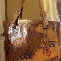 Large Rose Gold Michael Kors Purse Bag Photo