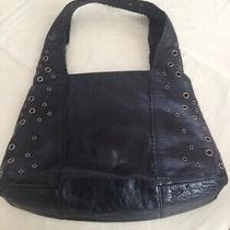 Large Vintage Italian Leather Hobo Bag Nordstrom Black Excellent Shape Photo